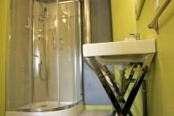 chambre hote double Hyla salle de bain eau douche vert anis